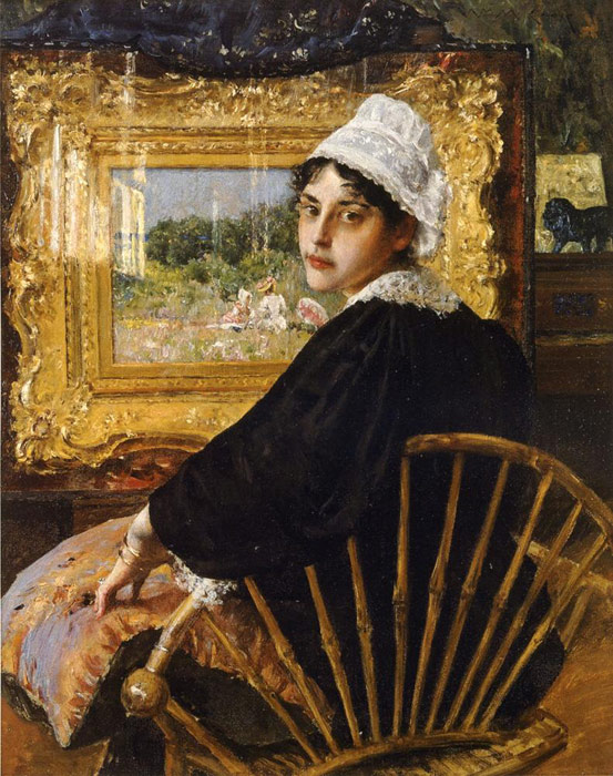 A Study aka The Artist's Wife, 1892  Painting Reproductions
