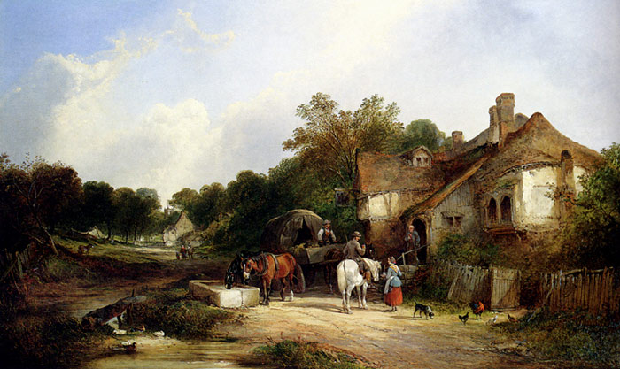 The Road Side Inn, Somerset  Painting Reproductions