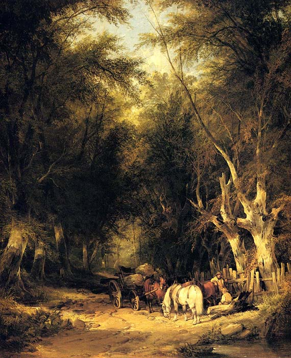 In The New Forest  Painting Reproductions
