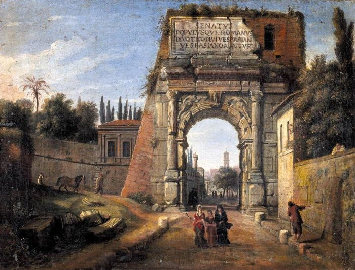 Rome: View of the Arch of Titus, 1710  Painting Reproductions