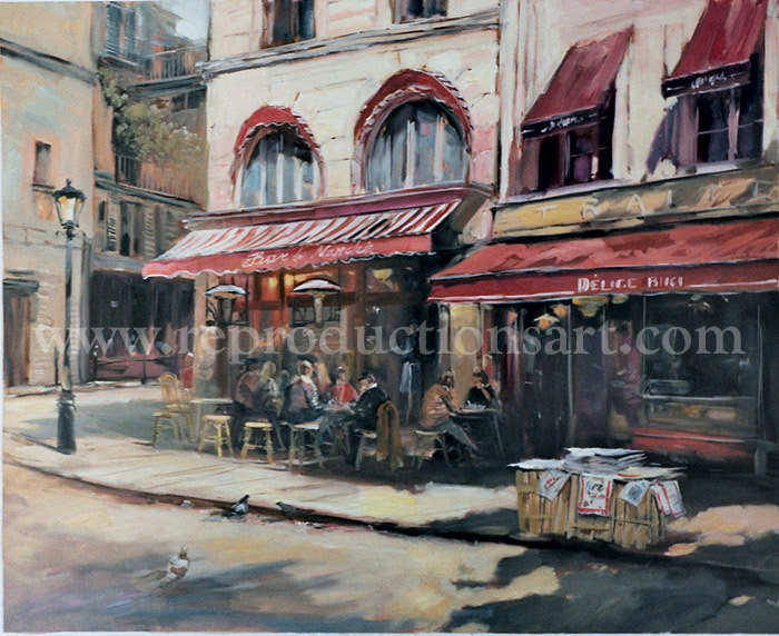Paris Painting, Original Artwork Hand Painted on canvas