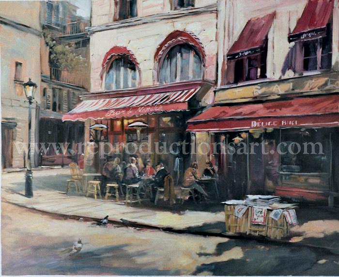 Paris Painting, Original Artwork Hand Painted on canvas