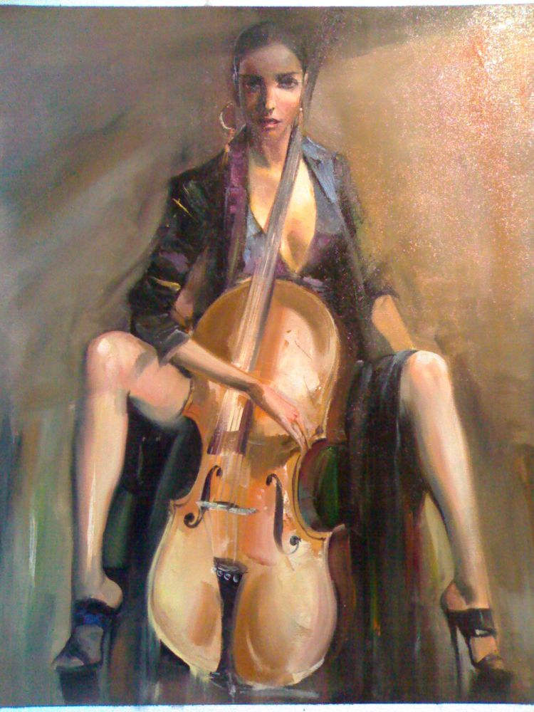 Original Painting Jazz, Hand Painted on canvas