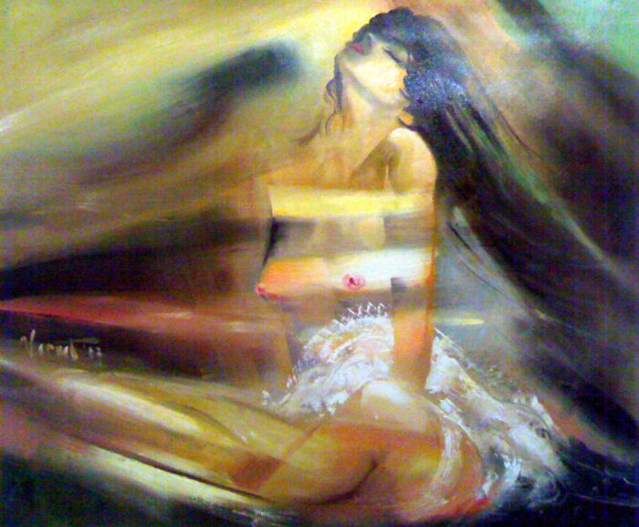 Evening Original Artwork, Hand Painted on canvas