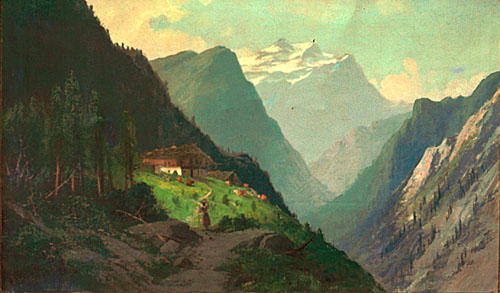 Swiss Paintings, Mountains Paintings