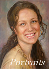 Oil portrait painting
