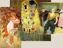 Art Nouveau Oil Paintings, Art Nouveau Oil Painting Reproductions